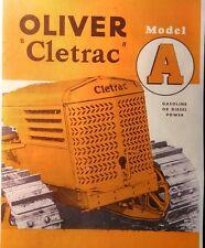 Oliver Cletrac Crawler Bulldozer Tractor Ag 6 Ad Adh Color Sales Brochure Manual