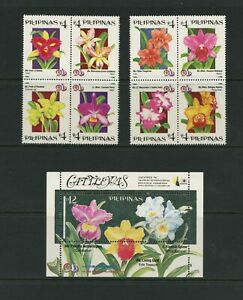 G318 Philippines 1996 Flore Fleurs Orchidées Blocs & Feuille MNH