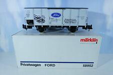"""Märklin 58952 Güterwagen geschlossen """"Ford"""" Werbewagen Spur1 G10 TOP NEU OVP"""