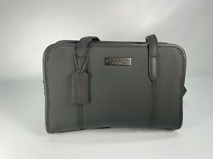 Coach Black Neoprene East West Small Double Strap Satchel Charcoal Gray 6214