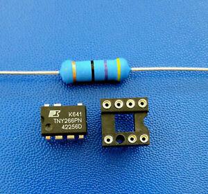 TNY266PN + Widerstand 47 Ohm 3 Watt + Präzisionssockel + Homepage mit Anleitung