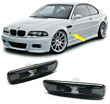 CRYSTAL SMOKED SIDE INDICATORS REPEATERS BMW E46 3 SERIES SALOON COUPE ESTATE V3