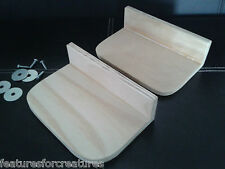 2x PINE PLYWOOD SHELF/LEDGE + DEBRI STOP SIDE 4 CAGE CHINCHILLA,RAT,DEGU,HAMSTER