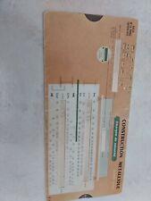OMARO règle- construction  métallique  r 4 1962 en état