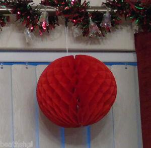 Paper Honeycomb Ball - Christmas Decoration - Medium - 20cm Diameter