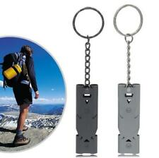 EDC Stainless Steel Survival gear lifesaving emergency SOS Whistle W/ Carabiner