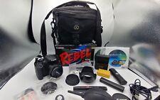 Canon Rebel T3i EOS 600D 18MP Digital SLR Camera 50mm Lens 2 Battery Bundle Kit
