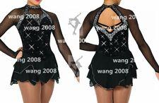 Figure Skating Dress Ice Skating Dress Competition Fashion black handmade