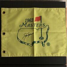 Jack Nicklaus Signed 1963 Masters Replica Flag PSA/DNA LOA Letter PGA