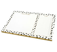 Monochrome Large Desk Pad Luxury Foiled Covers Printed With Foil Pattern