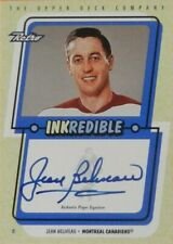 99-00 ud fleer retro inkredible jean beliveau montreal canadiens autograph auto