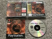MORTAL KOMBAT TRILOGY SONY PLAYSTATION 1 PS1 PS2 PS3 GAME WITH MANUAL UK PAL