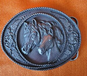 New ~ Siskiyou Buckle Co. Mare Horse & Colt w Roping Belt Buckle  #A-5 ~ New