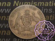 Australia 1921 George V Florin X1, Average Circulated Condition
