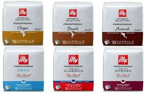 illy IperEspresso Coffee Pods 18 Capsules, 7 Assorted Varieties To Choose From