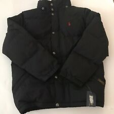 Boys Polo Ralph Lauren Black With Red Inside Puffy Vest Size Medium (10-12)