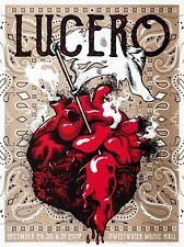 LUCERO - 18x24 artist signed screenprint show poster - New Years Eve