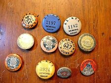 Lot of 11 -  Vintage 1930-40's Various Union Pin Back Buttons