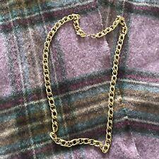 Double Link Necklace Monet Gold Tone