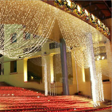 3Mx3M 300 LED Warm White LED Light Curtain String Fairy Lights Xmas Wedding Part