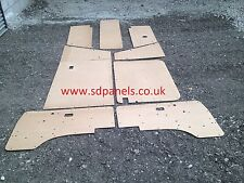VW T25 Door Cards 9 panel set & Trim Panels,  84 - 91  in exterior plywood