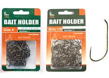 134x  Bait Holder Fishing Hooks Size #1/0 & #6 Bream Whiting Flathead TACKLE