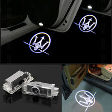2X Maserati Led Door Lights Logo Projector Easy Installation Emblem Ghost Shadow