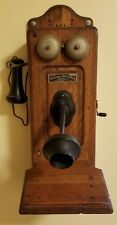 Electric Appliance Company Telephone & Telegraph Compass Hand Crank Phone