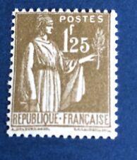 France N°287 1,25 F Olive Neuf ** Gomme Parfaite. Fraîcheur  Côté 215€