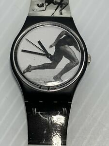 Vintage 1996 Olympic Annie Leibovitz Swatch Watch New Battery Autographed