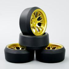 4X 5 Degree Drift Tires&Wheel 12mm Hex For HSP RC 1:10 On-Road Car DHG+PP0370