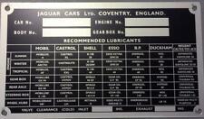 JAGUAR CHASSIS NUMBER PLATE FITS E-TYPE S1 2 MK2 S-TYPE 420 MK10 420G
