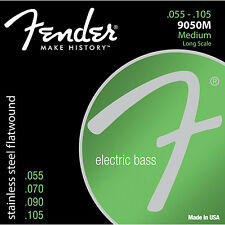 Fender 9050M Stainless Steel Flatwound Electric Bass Guitar Strings 55-105