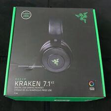 Razer Kraken 7.1 V2 Wired Black Over-Ear USB PC Computer Gaming Headphones