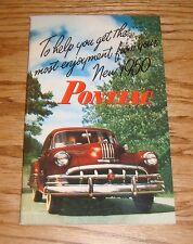 1950 Pontiac Owners Operators Manual 50 Chiefton Catalina Sedan