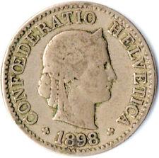 COIN / SWITZERLAND / 5 RAPPEN / HELVETICA  / 1898  #WT1887
