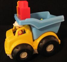 Mega Bloks Yellow and Blue Dump Truck with Blocks and Driver