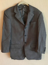 Pronto Uomo Blazer Jacket 35 Short Gray Grey Checkered