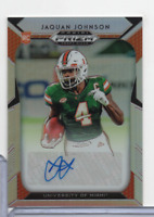 Jaquan Johnson Miami RC Signed Prizm 168 Panini 2019 110620MLCD