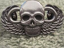 "US Army Paratrooper ""Grim Reaper"" Death Skull Jump Wing 82 101 Division Badge"