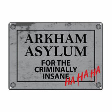 Batman Arkham Asylum A5 Acero Signo De Estaño Imagen Pared Arte Retro Placa DC Comics