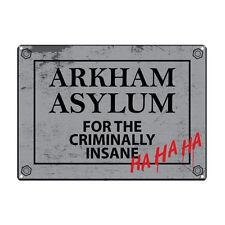 BATMAN ARKHAM ASYLUM A5 ACCIAIO SIGN TIN Foto Wall Art Retrò PLACCA DC Comics