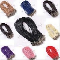 10 Pcs Adjustable Chains Necklace Charms Finding String Cord 1.5 mm