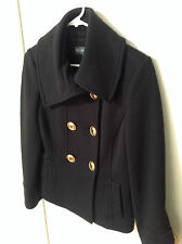 Gallery Couture Women's  Short Waisted Double Breasted Coat Size 4