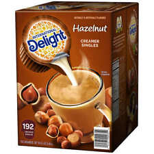 2 Pk International Delight Hazelnut Liquid Coffee Creamer Portion Cup 192ct ea.
