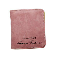 W10 Rose blush PETIT CARTE Notes Support fille femmes Porte-Feuille Cuir Daim