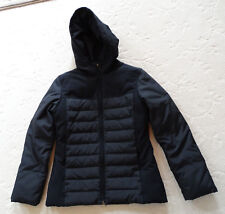 Black Via Spiga Duck Down Hooded Quilted Jacket Size M