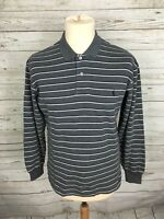 Men's Ralph Lauren Long Sleeved Polo Shirt - Small - Striped - Great Condition