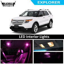Pink LED Interior Lights Replacement Kit for 2011-2017 Ford Explorer 6 bulbs