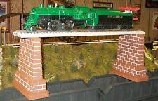 MODEL RAILROAD O GAUGE TALL BRIDGE PIERS - Set of 2 / trains / scenery / layout